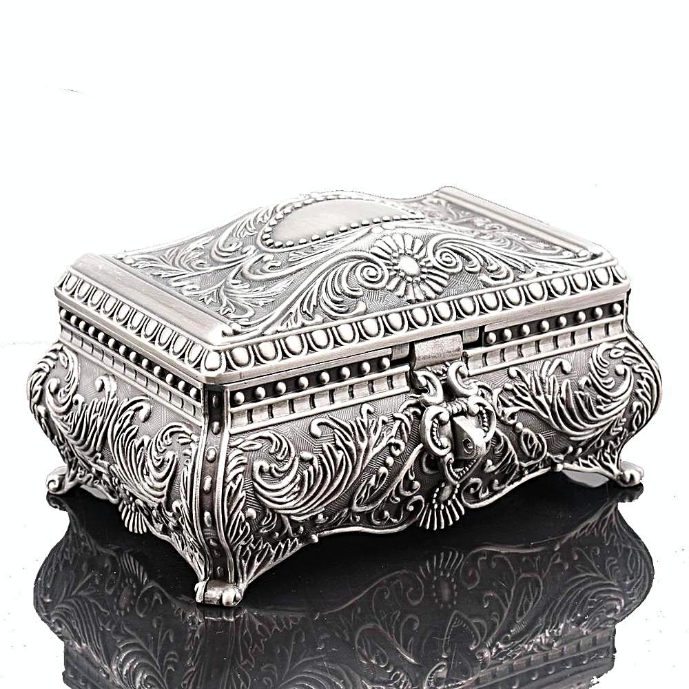 Vintage Flower Pattern Trinket Jewellery Box Gift for Women