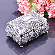Vintage Flower Pattern Trinket Jewellery Box Gifts for Women