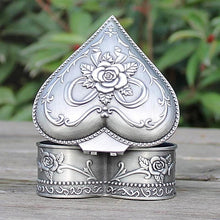 Vintage Pewter Heart Trinket Jewellery Box Unique Gifts for Women