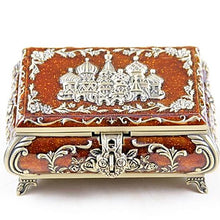 Vintage Russian Themed Jewellery Trinket Box