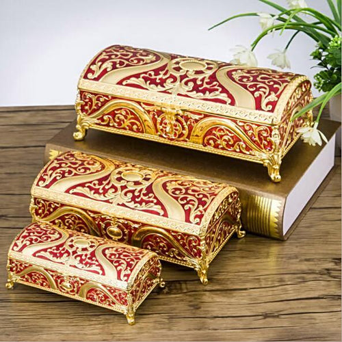 Luxury Flower Carved Trinket Jewellery Box Gifts for Grandma Gifts for Women