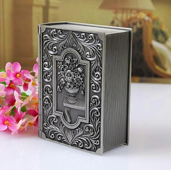 Vintage Book Design Trinket Jewelry Box Unique Home Decor Gifts