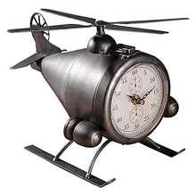 Retro Iron Helicopter Desktop Clock Unique Corporate Gift Idea