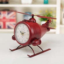 Retro Iron Plane Desktop Clock Unique Corporate Gift Idea