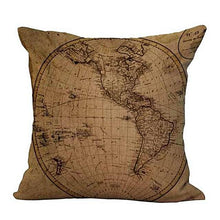 Vintage Map Cushion Covers Gifts for Travelers