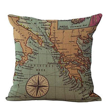 Vintage Map Cushion Covers Home Decor Gifts