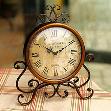 Vintage Iron Table Clock Unique Home Decor Gifts