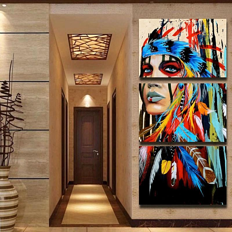 Canvas Print Native American Wall Art Unique Home Decor Gifts