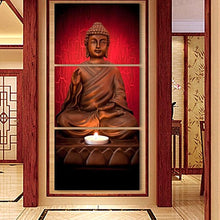 3Pcs Red Buddha Canvas Wall Art Unique Home Decor Gift