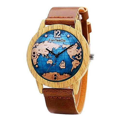 Vintage Style World Map Watch Unique Watches Gifts for Travelers