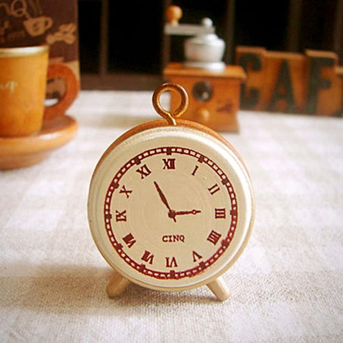 Vintage Clock Wooden Rubber Stamp