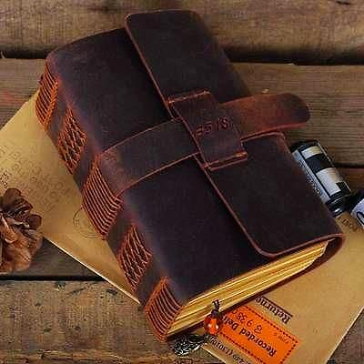 Handmade Vintage Travel Leather Journal Unique Gifts for Travelers