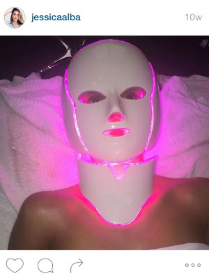 White 7 LED Face Mask & Neck Piece w/ Microcurrent – Professional Model