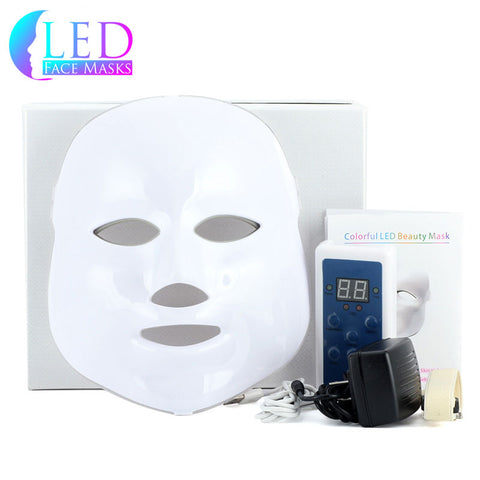White/Gold 7 LED Face Mask – Deluxe Model