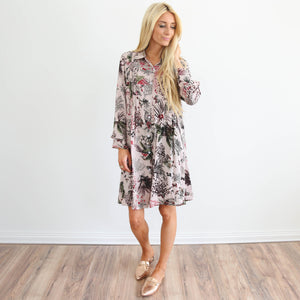 Promenade Button Up Dress