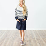 June Denim Stripe Dress