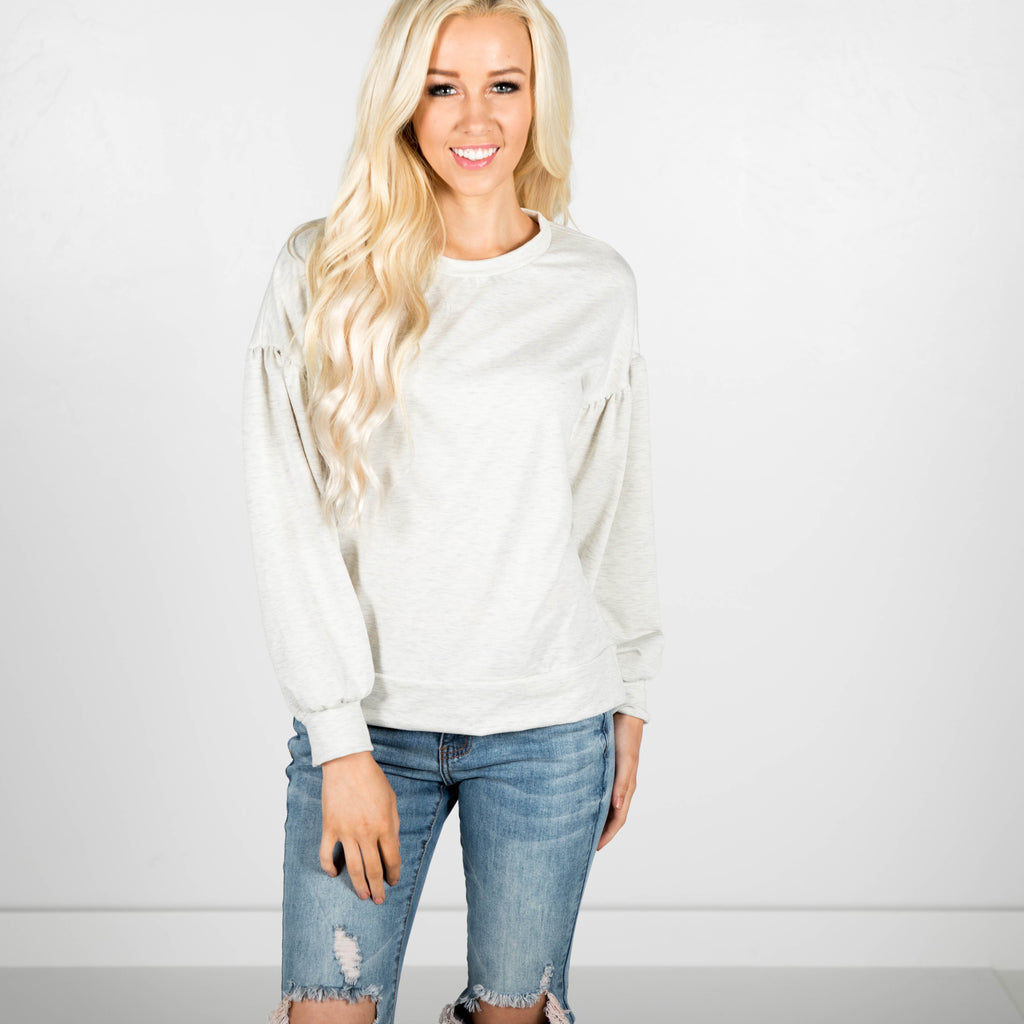 Bubbled Sleeve Sweater