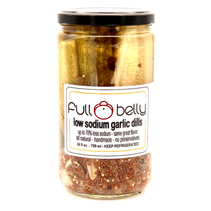 low sodium garlic dills - 24oz