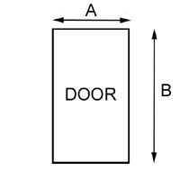 Door Diagram - Measuring for Fit