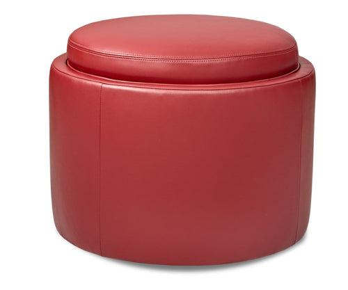 American Leather American Leather Uno Round Storage Ottoman - American Leather