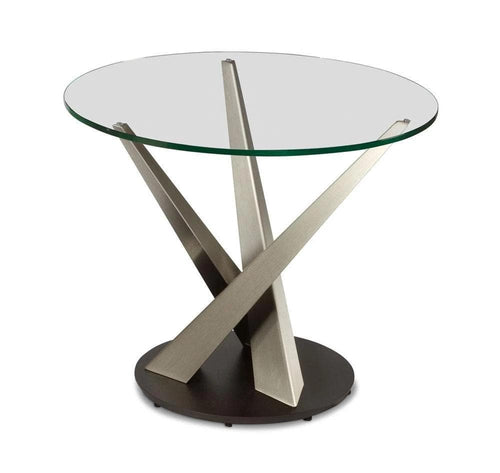 Elite Modern Elite Modern Crystal Round End Table - Elite Modern
