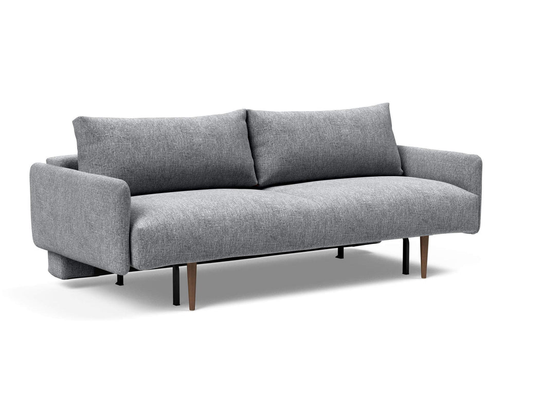 Innovation Frode Dark Styletto Sofa Bed Upholstered Arms