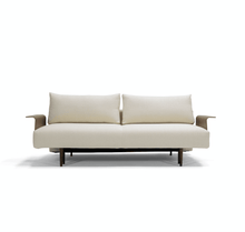 Innovation Frode Dark Styletto Sofa Bed Walnut Arms