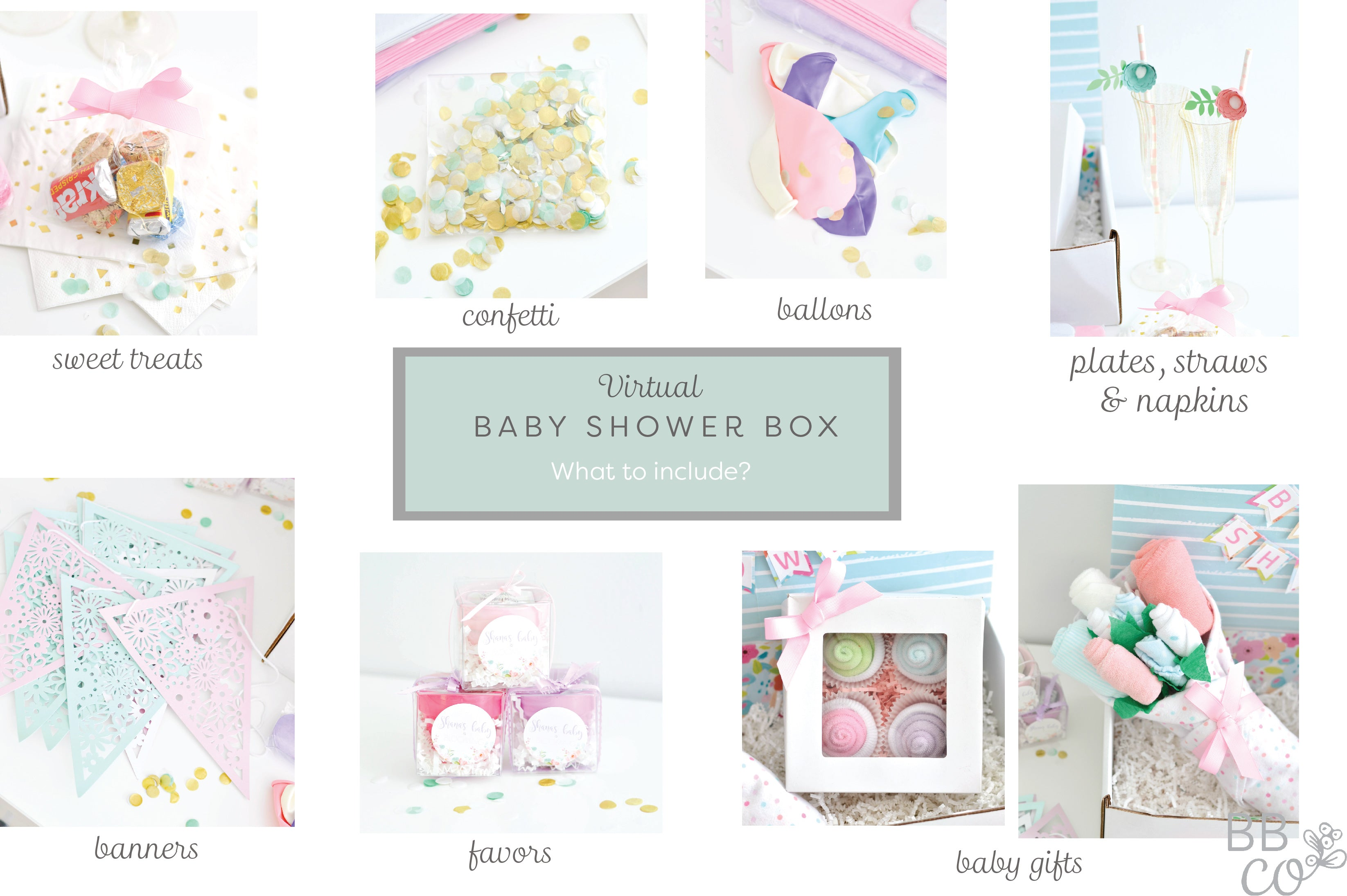 baby shower in a box contents