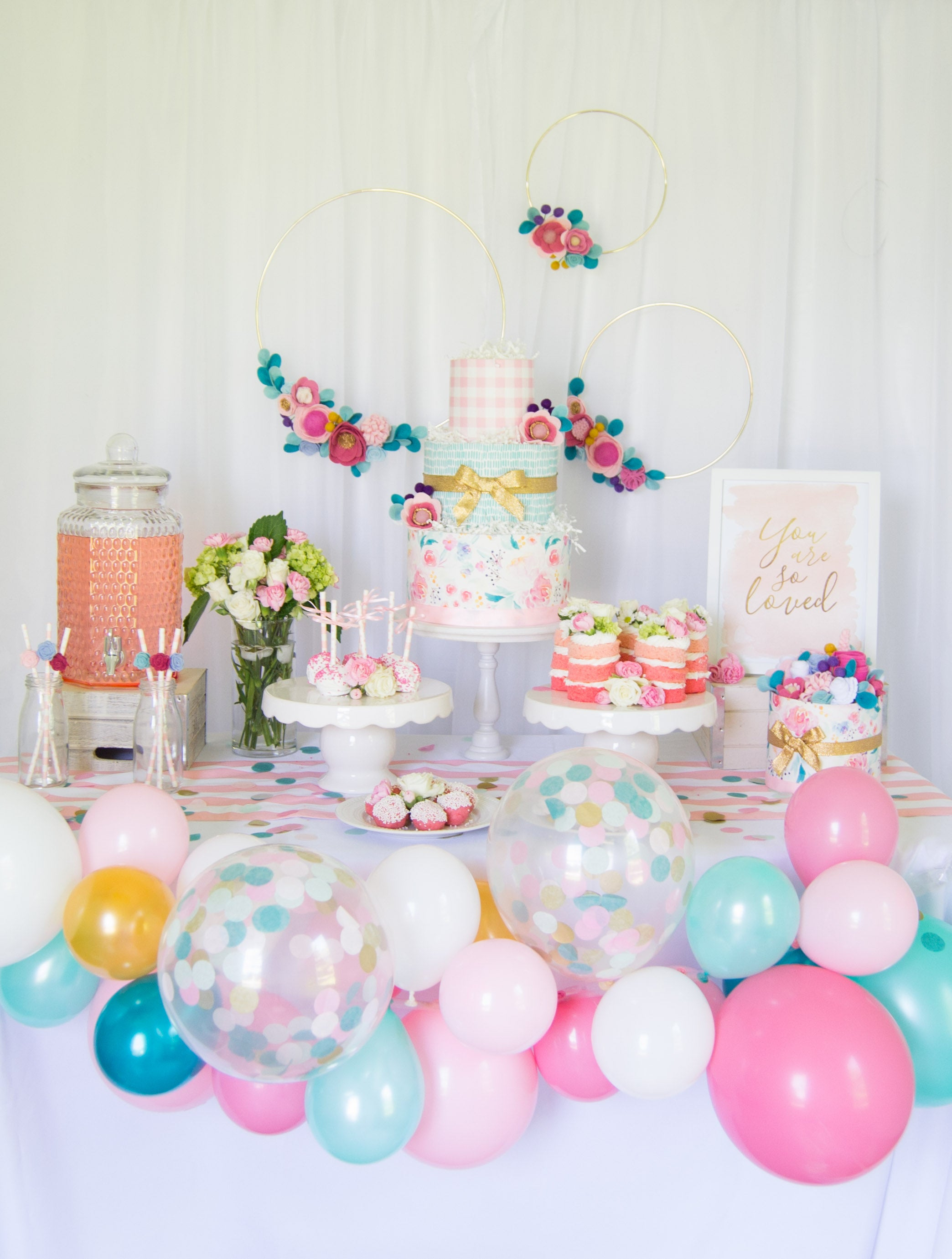 Waterclolor Floral Baby Shower