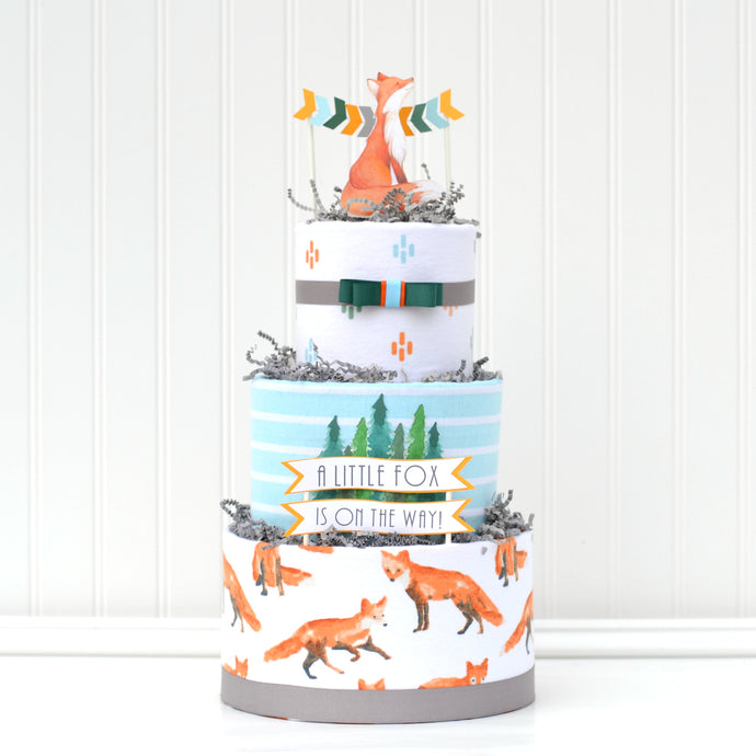 Little Fox Diaper Cake