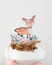 Floral Woodland Friends Diaper Cake