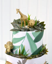 Gold Safari Animal Diaper Cake