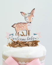 Floral Woodland Diaper Cake Kit