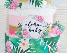 Tropical Aloha Diaper Cake