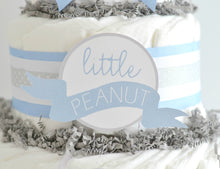 Blue Little Peanut Diaper Cake Kit