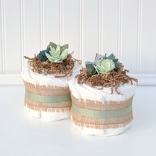 Succulent Diaper Cake Decoration Package