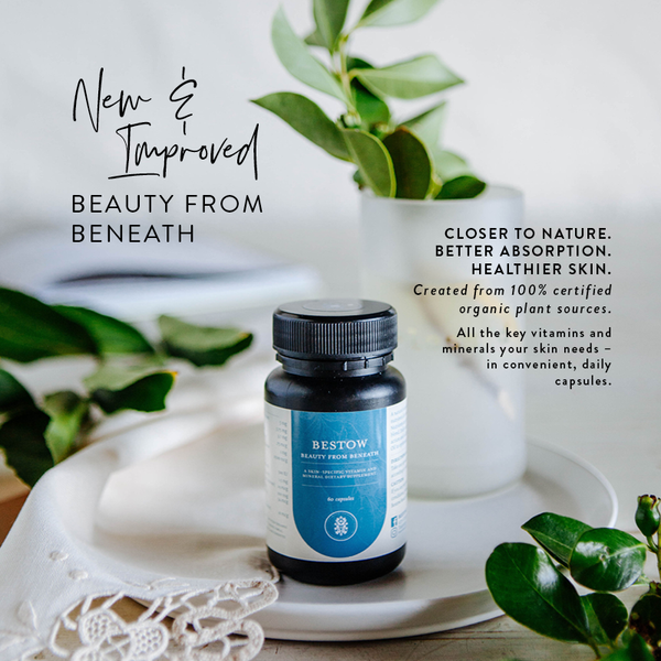 BESTOW BEAUTY FROM BENEATH CAPSULES | plant-based skin nutrition