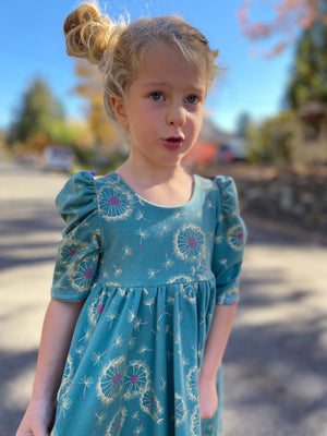 Coy Twirl Dress in Gold Dandelion