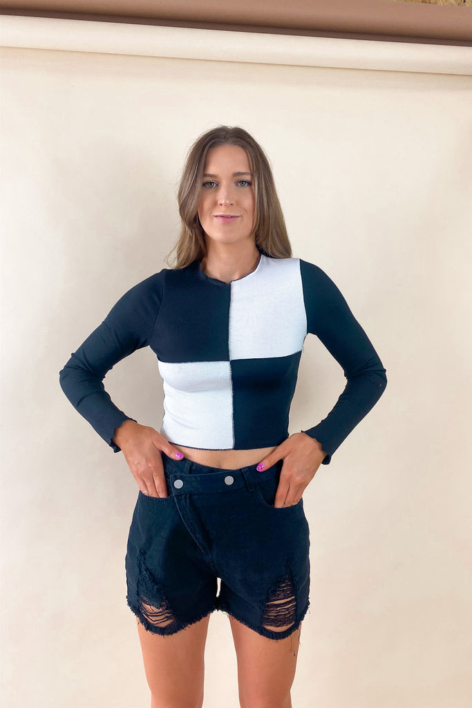 Stay Cool Color Block Top