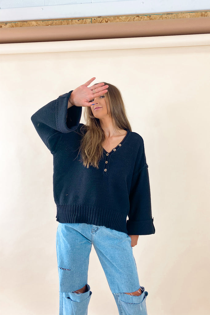 Dallas Button Knit
