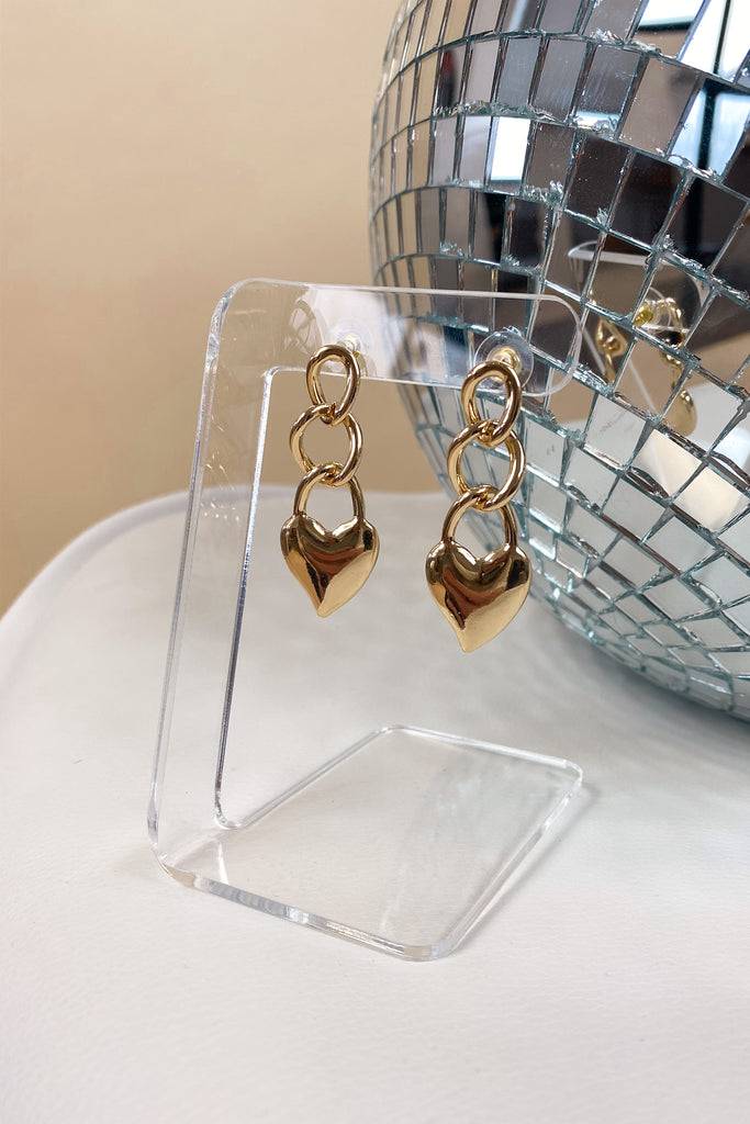 Electric Love Drop Heart Earring