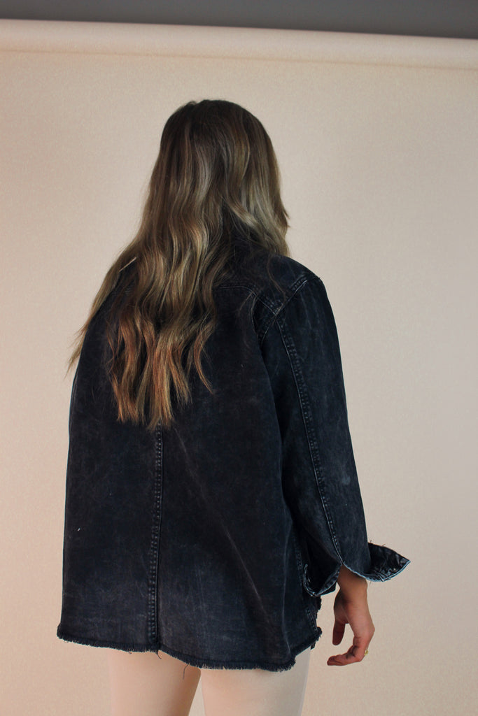 Same Page Denim Shacket