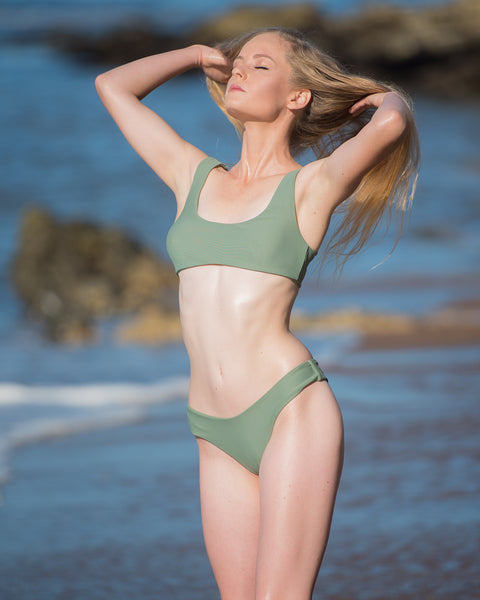 McKezie in the green Nicole bikini by Cammelly