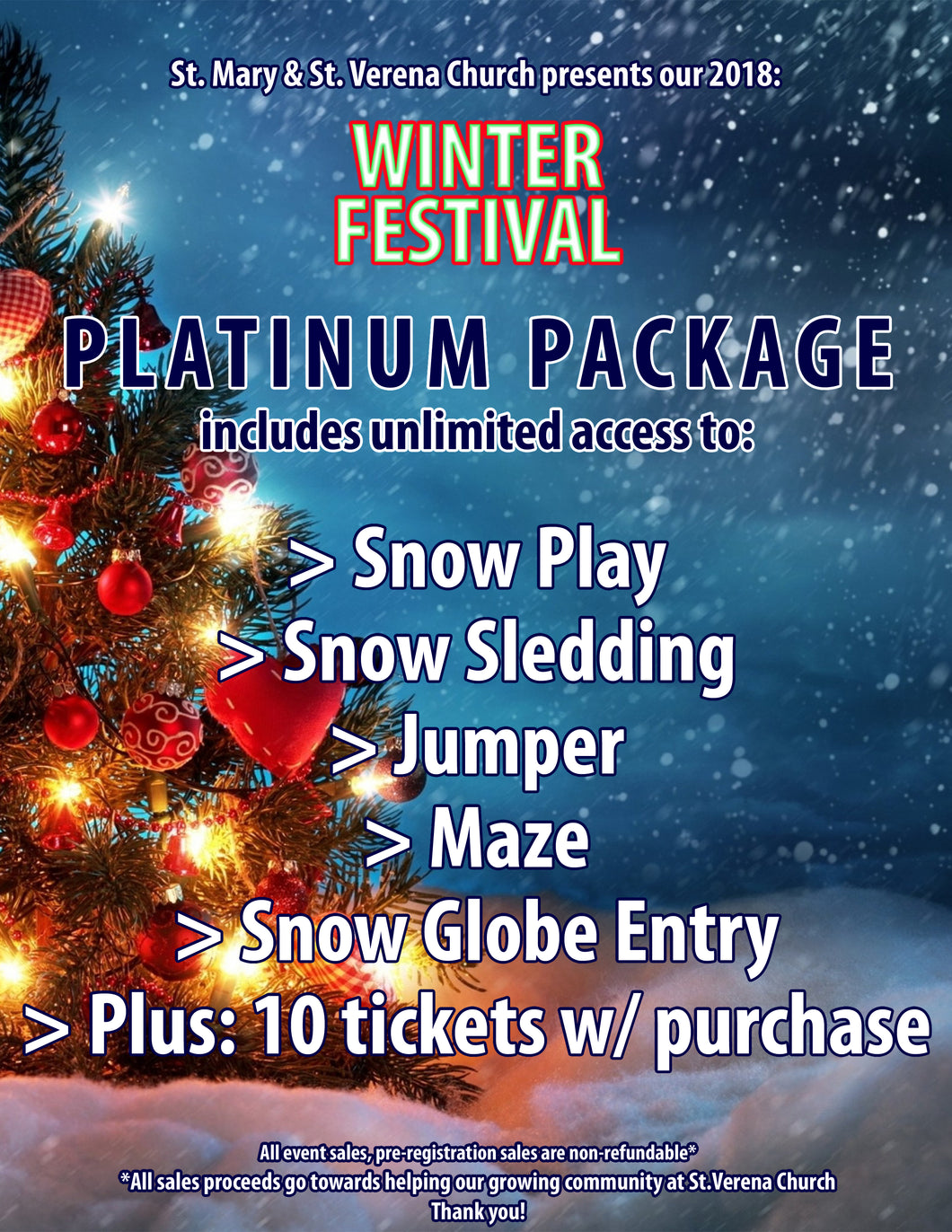 BOGO 2 PLATINUM Package Wristbands