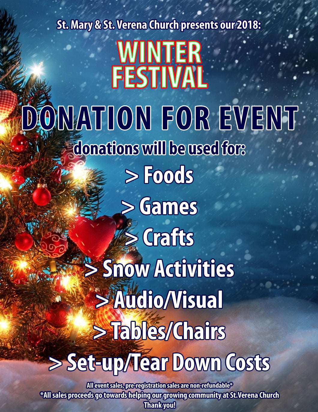 $25 Donation to the Winter Festival