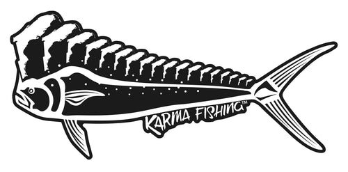 "Florida Mahi 12"" Car Decal, Black & White"