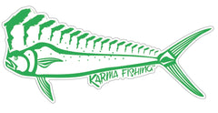 "Florida Mahi 12"" Car Decal, Green on White"