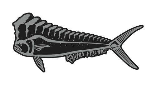"Florida Mahi 12"" Car Decal, Black on Silver"
