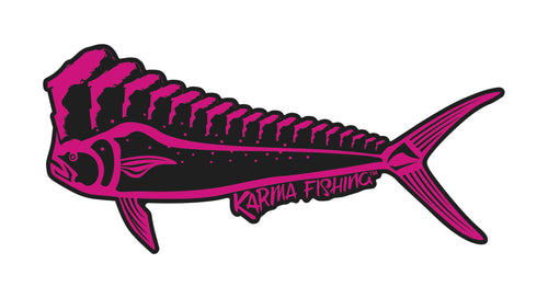 "Florida Mahi 12"" Car Decal, Pink on Black"