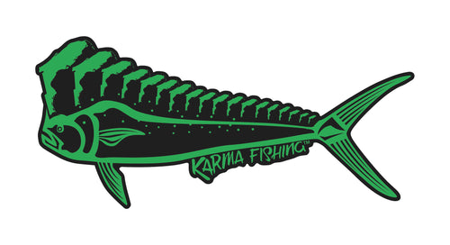 "Florida Mahi 12"" Car Decal, Green on Black"